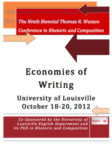 2012 Watson Program Cover
